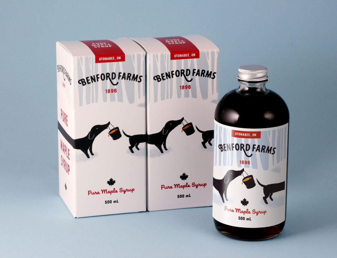 Benford Farms Maple Syrup Packaging | Luke Despatie & The Design Firm